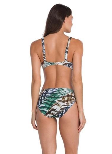 Dagi Uzun Üçgen Bikini Takım Yeşil